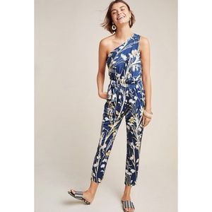 NWT Anthropologie Keaton One-Shoulder Jumpsuit